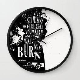 Dean Winchester Silhouette Quote Wall Clock