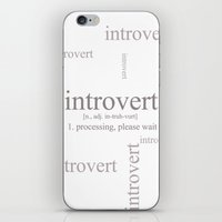 introvert iPhone & iPod Skins featuring Introvert by Lily Art