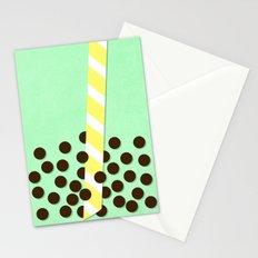 Avocado Smoothie w/ Boba Stationery Cards