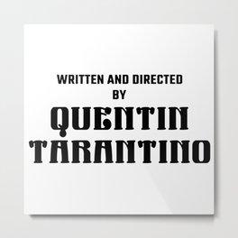 Quentin Tarantino logo Metal Print