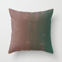 Pink and Green Brush Stokes Throw Pillow