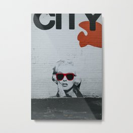 Urban Marylin Monroe Graffiti Art Metal Print