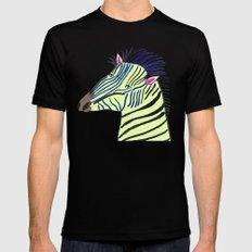 Zebra. Mens Fitted Tee MEDIUM Black