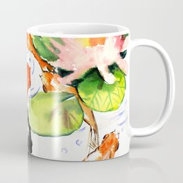Koi Fish Pond, Feng Shui 9 koi fish art Coffee Mug