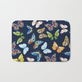 Butterfly Pattern 03 Bath Mat