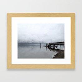 Dock at Lake Cushman Framed Art Print