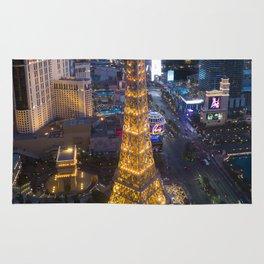 Aerial view of the Eiffel tower in Las Vegas Rug