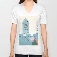 sleep V-neck T-shirts featuring Sleep by Loezelot
