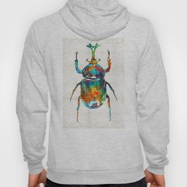 Colorful Beetle Art - Scarab Beauty - By Sharon Cummings Hoody