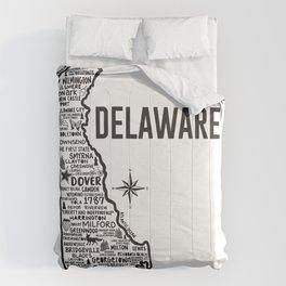Delaware Map  Comforters