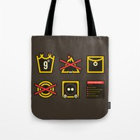 lord of the ring Tote Bags featuring Take Care Ring-bearer by Barn Bocock