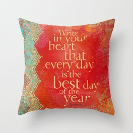 Write in Your Heart... Throw Pillow