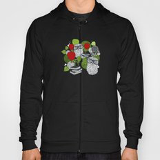 Owls and rose. Hoody
