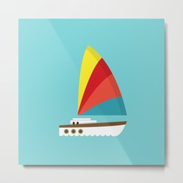 Sailboat II Metal Print