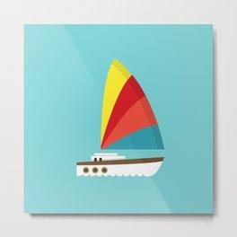 Sailboat II Metal Print