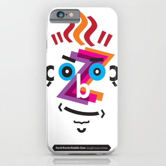 Type Faces No.2: David Bowie as Aladdin Sane brought to you in the typeface: Futura iPhone & iPod Case