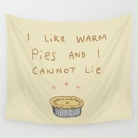 pie Wall Tapestries featuring Baby Got Pie by Sophie Corrigan