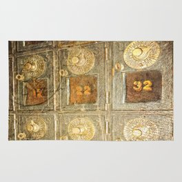 Vintage Post Office Boxes Rug