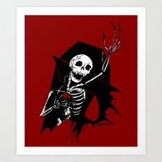 Death of Dracula Art Print