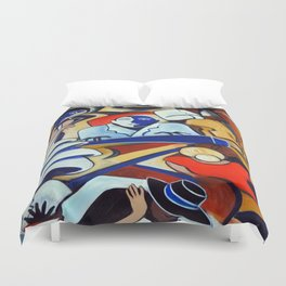 The Blue Piano Duvet Cover