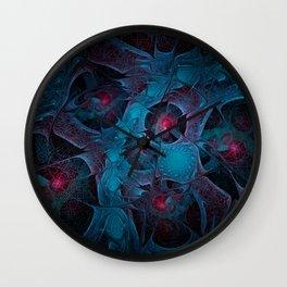 Fractal Jewels Wall Clock