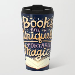 Books are magic Metal Travel Mug