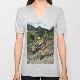 Climbing to the Silver Crown Mine, at 10,832 feet Unisex V-Neck