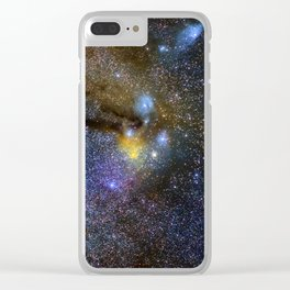 Milky way. Infinity. Scorpius and Sagittarius. Clear iPhone Case