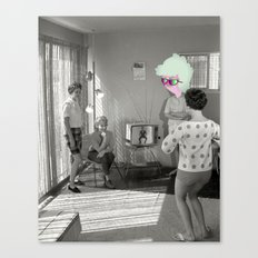 Holding in a Fart Canvas Print