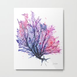 Fan Coral - Purple Metal Print