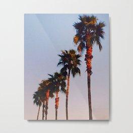 Vintage Palm Trees Metal Print
