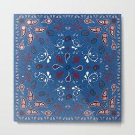 Whimsical Bandana in Blue Metal Print