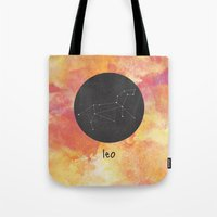 leo Tote Bags featuring Leo by snaticky