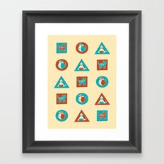 Geo Cats Framed Art Print