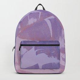 Tropical Sunset Banana Leaves Design Backpack