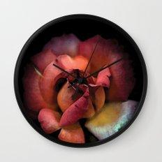Rose qui se fane colors fashion Jacob's Paris Wall Clock