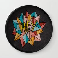 pixies Wall Clocks featuring HEY by Josh LaFayette