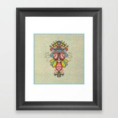 Harmony birds Framed Art Print