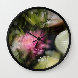 Magic Water Lily 3 Wall Clock