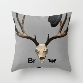 Heisenberg's hat and dead deer Throw Pillow
