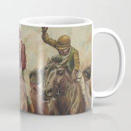 Vintage Finish Line Horse Jockeys Illustration (1891) Coffee Mug