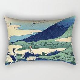 Hokusai -36 views of the Fuji  14 Umezawa in Sagami province Rectangular Pillow