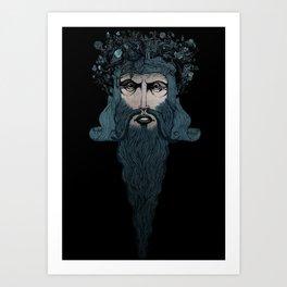 Conquerer {blue}. Art Print