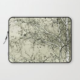 Sycamore Tree, Inky Green Toile Version Laptop Sleeve