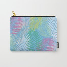 Layered Palms - Blue Carry-All Pouch