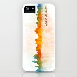 Jerusalem City Skyline Hq v3 iPhone Case