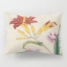 Minhwa-Korea traditional flower art : Lilium lancifolium and Butterfly Pillow Sham