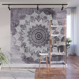 BOHOCHIC MANDALA IN PURPLE Wall Mural