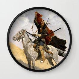 "Frederic Remington Western Art ""The Blanket Signal"" Wall Clock"