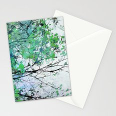 Autumn 5 Green Stationery Cards